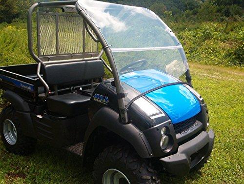 Dot Weld Offroad 04-16 Kawasaki 600,610,XC Mule Clear Folding Fold Up Front Windshield.A Full 1/4