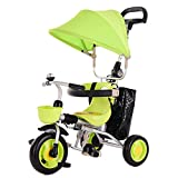 Trikes Children's Tricycle Bicycle Baby Pedal Car Lightweight Folding Trolley 2-5 Years Old (Color : Green)