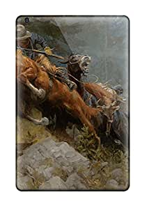 Excellent Ipad Mini Case Tpu Cover Back Skin Protector Wild West Painting 9382199I60589490