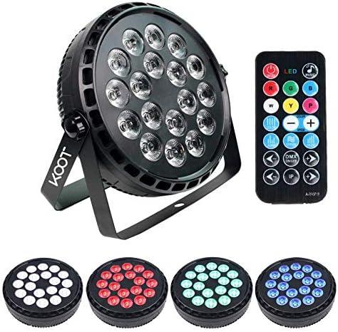 パターンステージライト、DJライト、ステージライト72W高輝度ディスコ照明、18 LedストロボRGBW 7チャンネルパーは、リモートおよびDMXによるウェディングクラブダンスショー用ライト