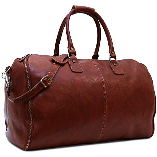 Convertible Full Grain Leather Garment Duffle Bag - Floto Roma by Floto