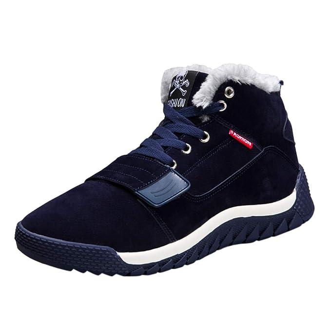 Zapatos de hombre JiaMeng Hombres Zapatillas Moda Botas Bajas del Tobillo del Tobillo Plano Invierno cálido Otoño Botas Calzado Deportivo Informal: ...