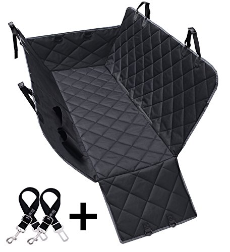 Dog Seat Covers, 600D Waterproof Pet Car Seat Covers with 2 Dog Seat Belts & Zipper & Pocket - Nonslip Back Seat Cover Cat Dog Hammock Convertible Extra Side Flaps Best for Cars Trucks Suvs (Cheap Used Minivans For Sale By Owner)