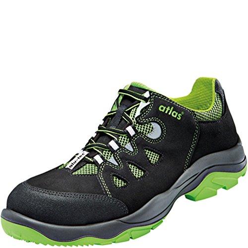 Atlas zapatillas de seguridad para hombre negro - verde