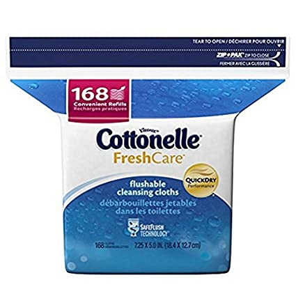 Atención Cottonelle Fresh Flushable húmedo Wipes Refill, 168 ct