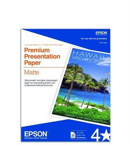 Epson Matte Paper Heavyweight, Borderless, 11in X 14in S041468