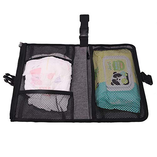 Portable Baby Changing Pad, with a Toy Waterproof Pockets for Diapers Built-in Comfortable Head Pillow (Small)