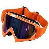Skiing Goggles - SODIAL(R) Single Lens Motocross Off-road ATV Dirt Bike Motorcycle Skiing Goggles Eyewear Orange