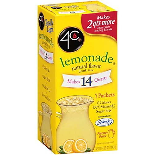 4C Totally Light Lemonade, 7-Count Packets (Pack of 4) - Light Soft Drink Mix