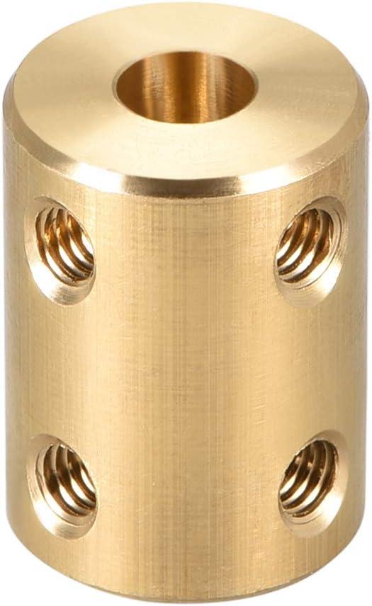 sourcing map 2stk Schaft Kupplung Motor Rad Starre Verbinder 5mm zu 8mm L22xD14 Gold Ton