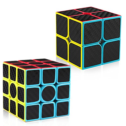 D-FantiX Carbon Fiber 2x2 3x3 Speed Cube Set