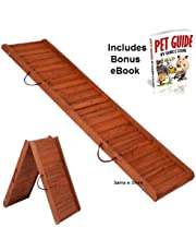 Foldable Wooden Dog Ramp Protects Pets Joints and Bones from the Strain of getting in and out or your car