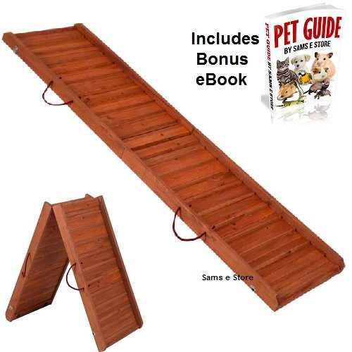 Foldable Wooden Dog Ramp Predects Pets Joints and Bones from the Strain of getting in and out or your car