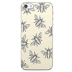 iPhone 5S Transparent Edge Phone case Bee Phone Case Insect Phone Case Pattern iPhone 5 Case with Transparent Frame