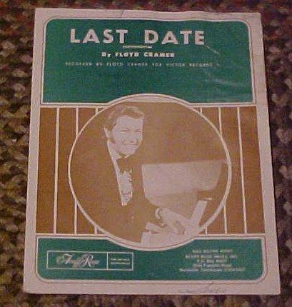 Last Date Instrumental By Floyd Cramer Sheet Music 1960 (Last Date Sheet Music)