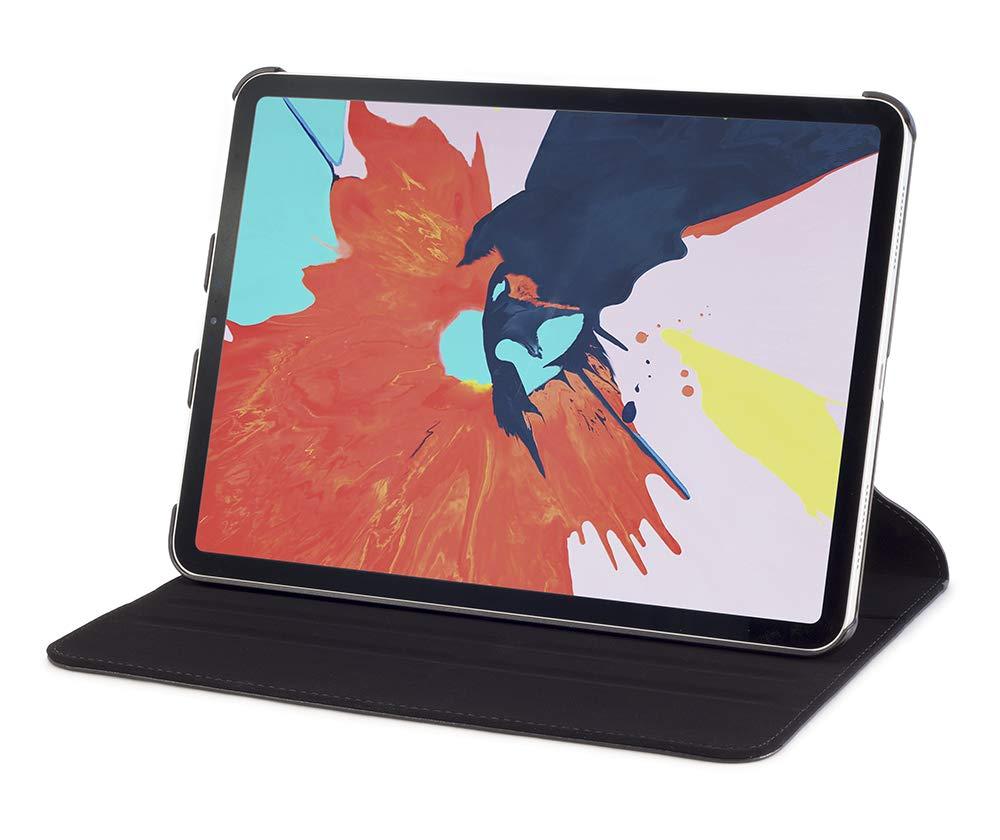 Devicewear リッジスマートケース [Apple Pencil充電対応] スリムフィット レザースタンドケース キーボードタイピングポジションカバー付き Apple iPad Pro 11インチ 2018年モデルに対応 ブラック   B07LCQXL2D