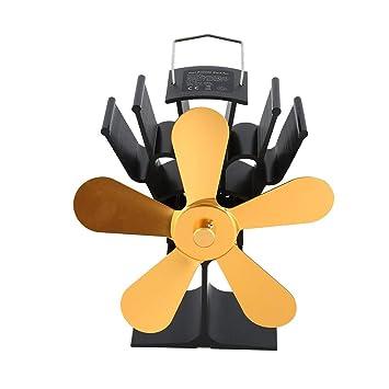 Ventilador térmico de la chimenea de alimentación eléctrica Ventilador térmico para estufa de leña para leña/estufa de leña/chimenea Ventiladores ecológicos ...