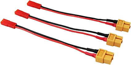 OliYin 10pcs JR Futaba Male Servo Connector Plug to JST Female Adapter Cable 22awg 10cm Silicone Wire for RC Lipo Battery