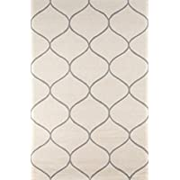Momeni Rugs NEWPONP-10IVY2030 Newport Collection 100% Wool Hand Tufted Loop Cut Area Rug, 2 x 3, Ivory