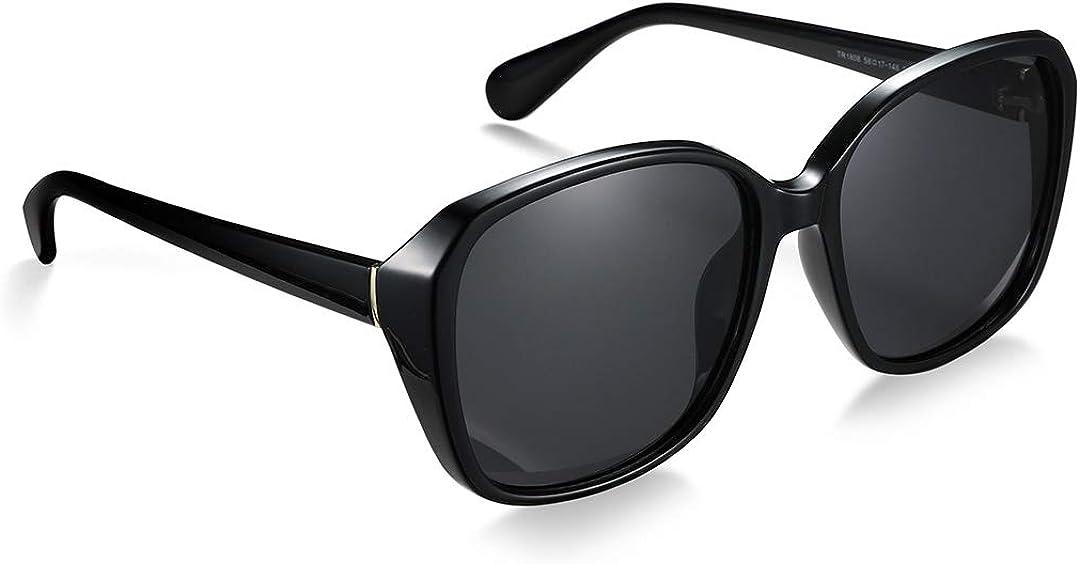 Polarized Sunglasses Women Oversized Retro Shades Ultralight Justrue Just-08