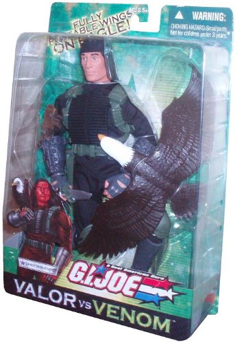 (GI Joe Year 2004 Valor vs. Venom Movie Series 12 Inch Tall Action Figure - Spirit Iron-Knife with Jumpsuit, Vest, Boots, Knee Pads, Pistol, Knife, Sheath and Eagle)