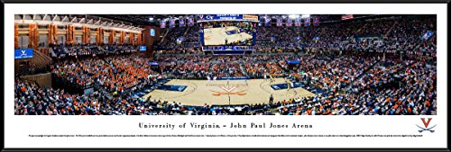 Framed Wall Cavaliers (Virginia Cavaliers Basketball - Standard Framed Print by Blakeway Panoramas)