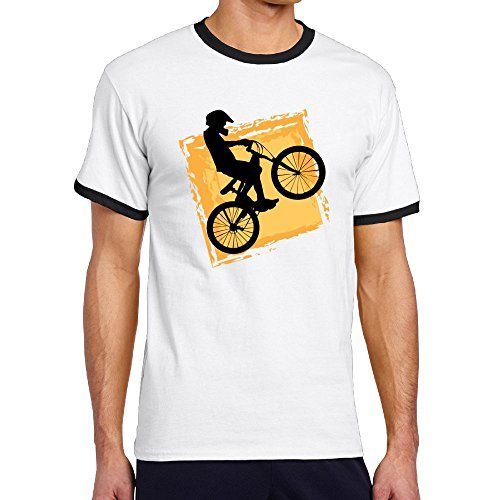 - Oopp Jfhg Bicycle Rider Speed BMX Hipster Crew-Neck Short Sleeve T-Shirts Hit Color Mens