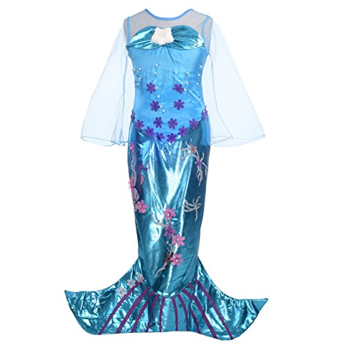 (Dressy Daisy Girls' Princess Mermaid Costumes Fancy Dress Up Halloween Costume Size)