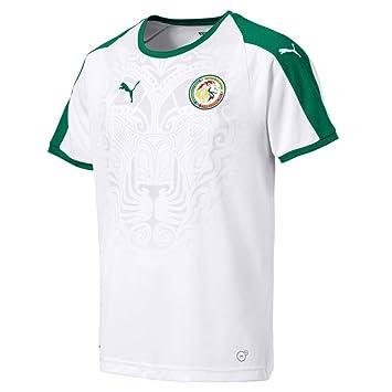 Puma Fútbol Senegal Home Camiseta 2018 2019 Camiseta Infantil Color Blanco Verde, 140: Amazon.es: Deportes y aire libre