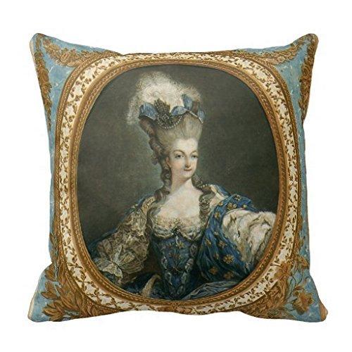 Luckyam Janinet Portrait of Marie Antoinette Fine Art Throw R1bb585a8e700421b943cd4fd1556a994 I5fqz 8byvr Pillow Case 18