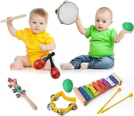 20 Percussion Xylophone Kids Baby Wooden Toddler Musical Instrument Toys