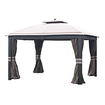 Sunjoy Replacement Canopy Set (Deluxe Fabric) for 10x12ft Wicker Gazebo  sc 1 st  Amazon.com & Amazon.com: Sunjoy Replacement Canopy Set (Deluxe Fabric) for ...