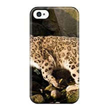 Fashion Protective Snow Leopard Case Cover For Iphone 4/4s