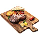 ROLICONE Bamboo Cutting Board with Handles (16.6 x 9.5 ''),Large Organic Wooden Chopping Board BPA Free, Wood Chopping Countertop Block for Food Prep Vegetables, Fruit, Meat