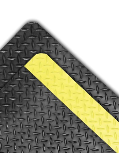 NoTrax 990 Dura Trax Grande Safety/Anti-Fatigue Floor Mat with Rubber Top Surface, for Dry Areas, 3' Width x 5' Length x 1