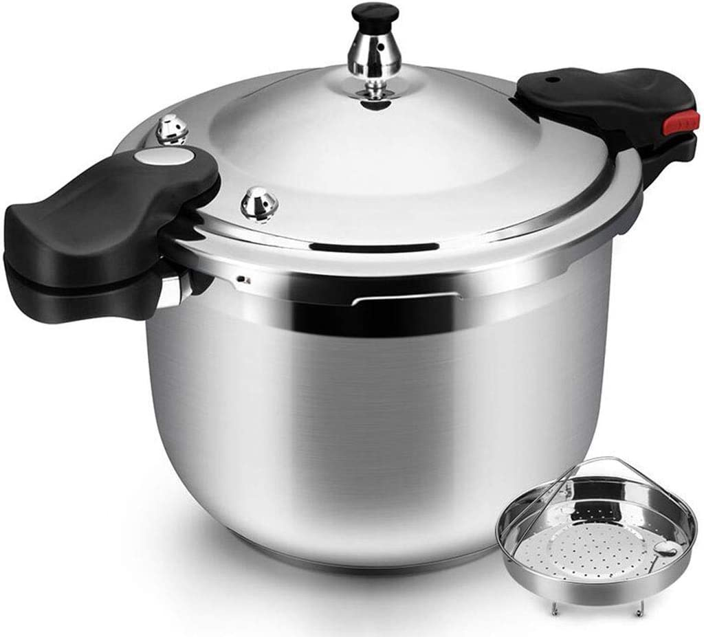 ZBINGAFF Pressure Cooker Stainless Steel Stock Pot Slow Cooker Automatic Locking Cover Energy-Saving Time-Saving Induction Cooker Gas Stove General Household Commercial Pressure Cooker 8L