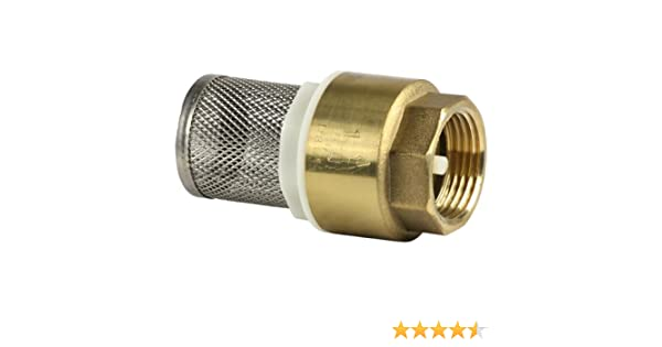 3//4\ V/álvula de retenci/ón Cesta de acero inoxidable V/álvula de pie de lat/ón DN20 26.16mm