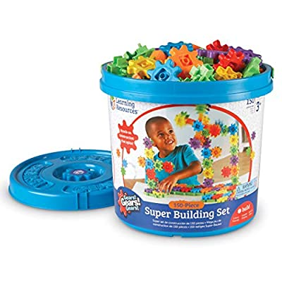 Learning Resources Gears! Gears! Gears! Super Building Toy Set, 150 Pieces, Ages 4+: Toys & Games