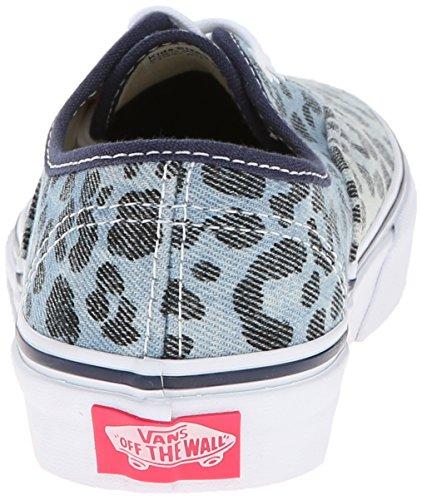 Bestelwagen Kids Authentiek (glitter Textiel) Skate Schoen Leo Denim Jurk Blauw / True White