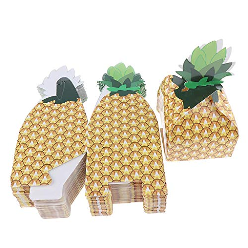 50pcs Hawaiian Luau Pineapple Paper Bag Gift Bag Candy Boxes Wedding Baby Shower Birthday Party Gift Favors