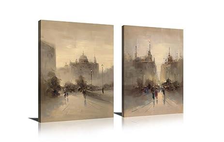 Amazoncom Sweety Decor Abstract Street of London Scene Paintings