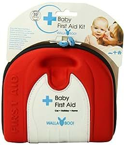 Wallaboo - Botiquín de primeros auxilios para bebé, color rojo