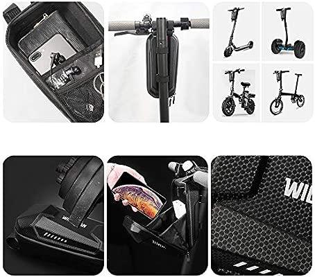 Konesky Scooter Electrico Bolsa Colgante de Manillar, Impermeable EVA Concha Dura Equilibrar Bolsa de Tubo Frontal Gran Capacidad Compatible con ...
