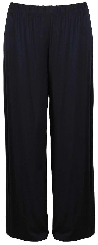PurpleHanger Women's Plus Size Wide Leg Palazzo Pants