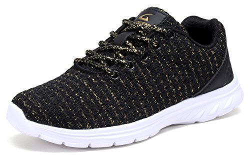 YL802-WK Lightweight Fashion Sneakers Casual Sport Shoes(Little Kids/Big Kids/Women) BLACK-12