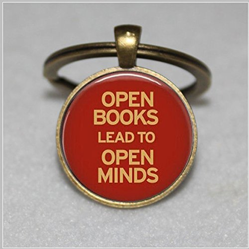 Book Keychain, Once Upon A Time, Literature, Readers, Reading, Gifts, Literacy Keychain, Library, Librarian, Heart, Love - Literacy Reader
