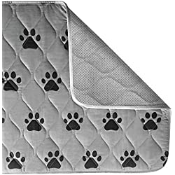 "GORILLA GRIP Original Reusable Pad and Bed Mat for Dogs, Absorbs 3 Cups, Machine Washable, Waterproof, Dog Crate Training, Furniture Protection, Fits 36 Inch Crate (Pets: 34"" x 21"")"