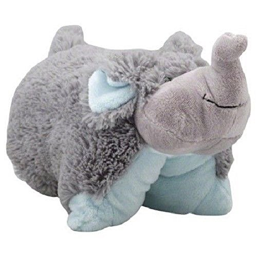 (adistuff \Nutty Elephant Stuffed Animal Potable Travel Kid Plush Pillow Toy)