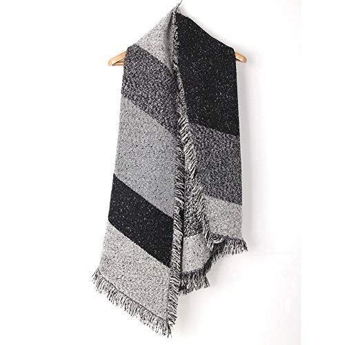 iTLOTL Women Winter Scarf Classic Tassel Strip Scarf Warm Soft Large Blanket Wrap