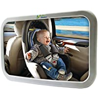 Baby Back Seat Mirror – Rear View Safety Mirror by BabyBahor – Safer & Stressless Driving – Comfortably Watch Your Little Angel In-Car with this Adjustable Convex Mirror – Stylish Wide Angle Convex & 360° Adjustable Design allows Full Sight of Rear Facing Infant Car Seat – Lightweight with Best Quality Shatterproof Glass & ABS Plastic – Secure Your Safety Today– 100% Satisfaction Guarantee!